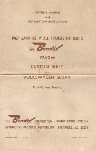 '67 Beetle AM Sapphire V Radio