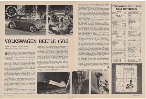 '67 Beetle — Road Track, Road Test