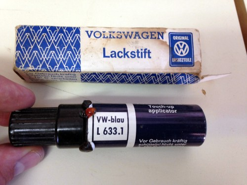 '67 Volkswagen Beetle — L633 VW Blue Touch Up Paint