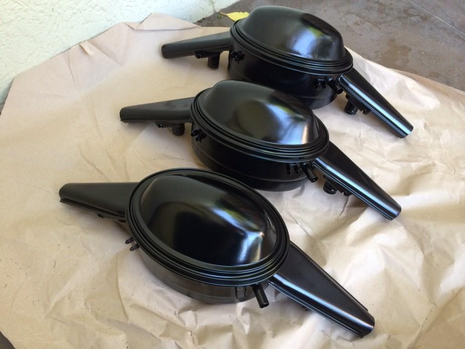Powder coated '67 beetle oil bath air cleaners