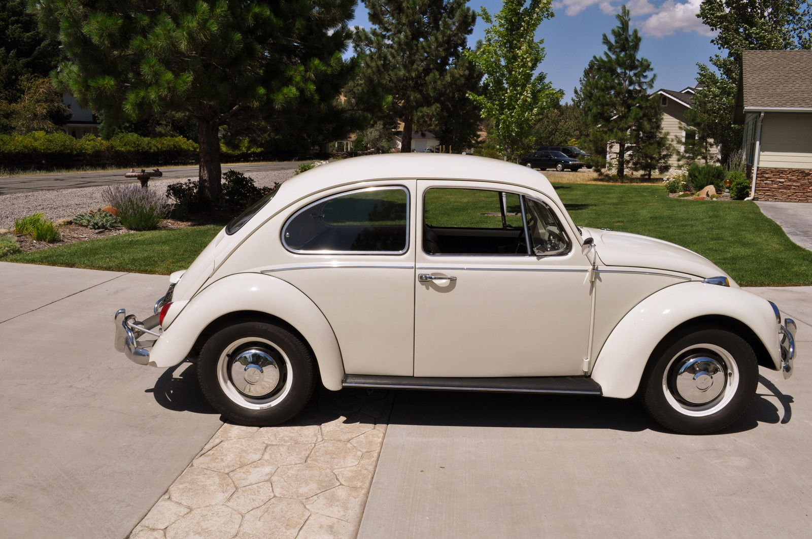 SOLD— L282 Lotus White '67 Beetle – 1967 VW Beetle