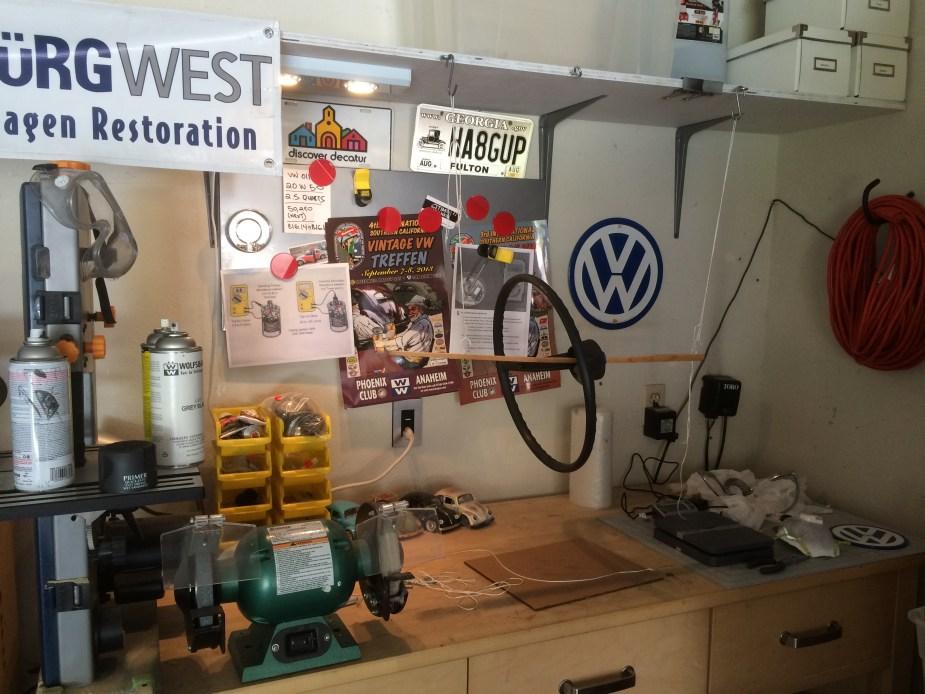 Vintage Volkswagen Steering Wheel Restoration