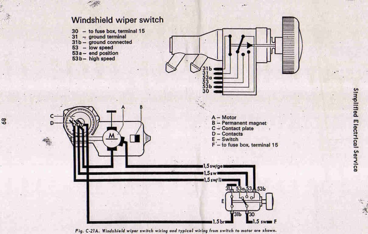 67 Beetle Windshield Wiper Assembly Rebuild 1967 Vw 74 Bug Wiring Diagram Get Free Image About