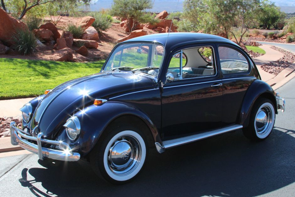 sold  vw blue  beetle