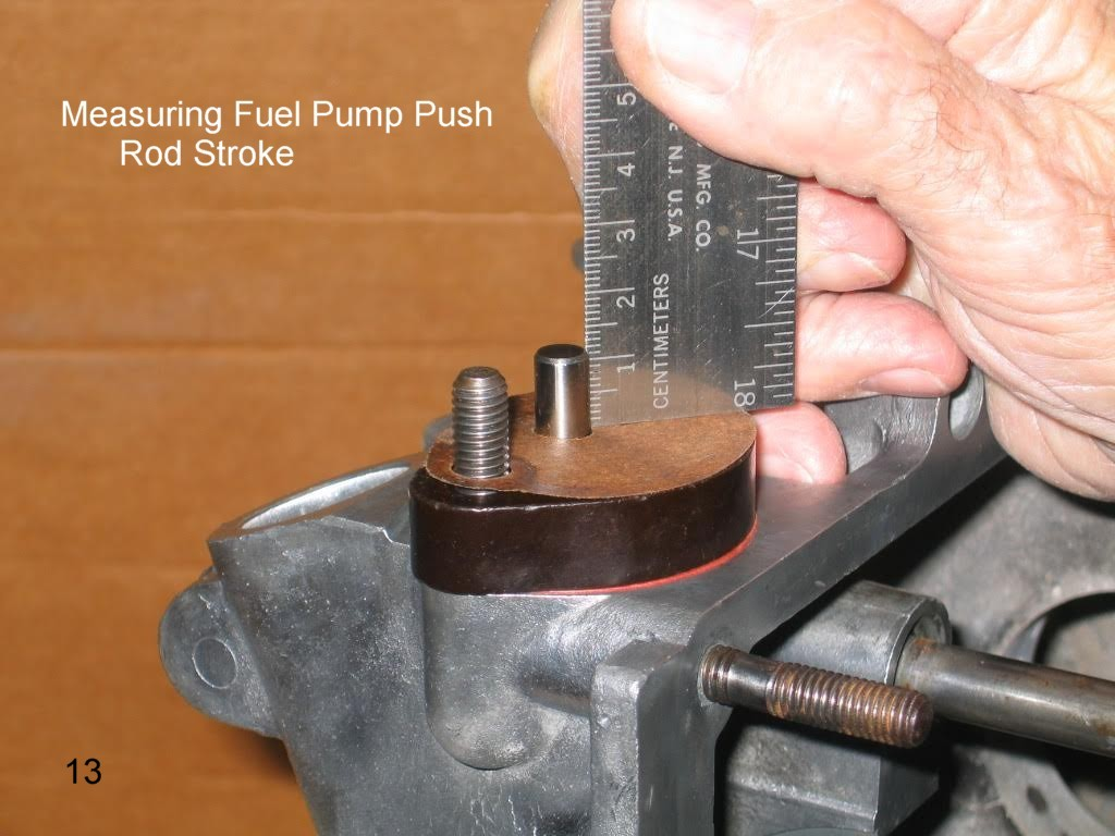 Vintage Volkswagen Beetle Fuel Pressure 1967 Vw 1971 Engine Compartment Diagram 1600 Dp Now Turn The By Hand Until Push Rod Is At Its Lowest Height It Should Extend Above Pump Block About 8mm Subtracting From 13mm