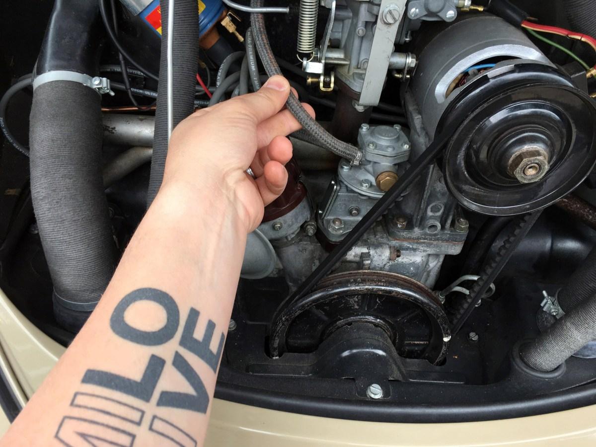 Vintage Volkswagen Beetle Fuel Pressure