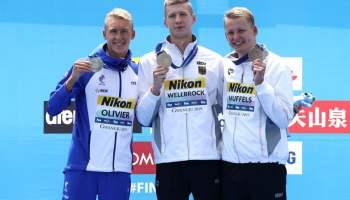Podio 10Km Masculino Mundial FINA Aguas Abiertas Gwangju 2019