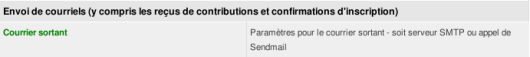 CiviCRM Param Courrier Sortant Fait