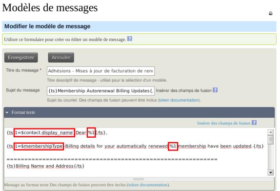CiviCRM Param Modif Message 1