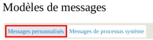 CiviCRM Param Modif Message personnalisé