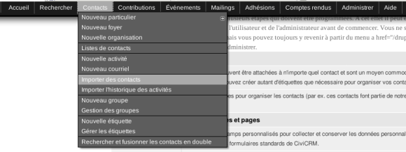 CiviCRM Contacts Importer contacts