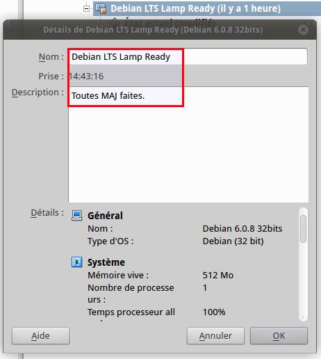 VirtualBox - Debian 6 LTS - installée