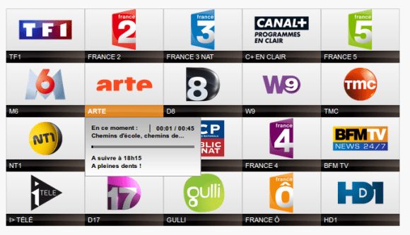 Liste Chaines TV Orange Firefox