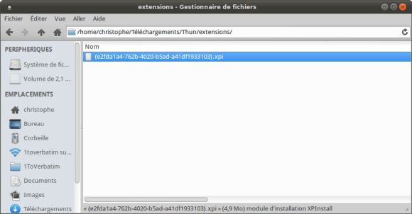 Extension Lightning a installer