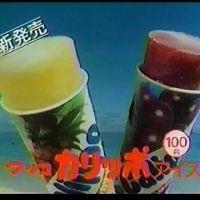 1982年(昭和57年)グリコ・アイス「カリッポ」