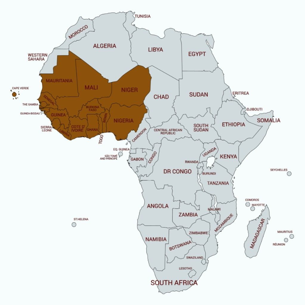List Of West African Countries And Capitals