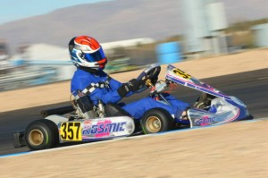 Former US Rotax champ Phillip Arscott was among the quickest in Senior Max all weekend in Tucson aboard the RPG Kosmic (Photo: Sean Buur - Go Racing Magazine)