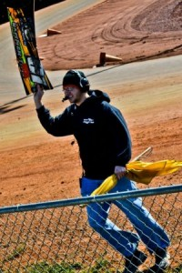 Pro Kart Tour Will Brinkley isn't afraid to get his hands dirty as he often helps work the track at PKT events to assure the event runs smooth