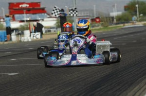 Blaine Rocha secured the TaG Junior victory on the final circuit (Photo: On Track Promotions - otp.ca)