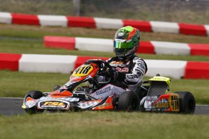 Pier-Luc Ouellette was victorious in his return to ECKC competition, taking top honours in Rotax DD2 on Sunday while placing second on Saturday (Photo: PSL Karting)