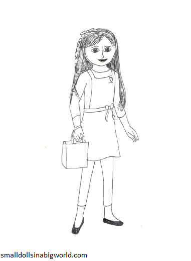 american girl grace coloring pages small dolls in a big world