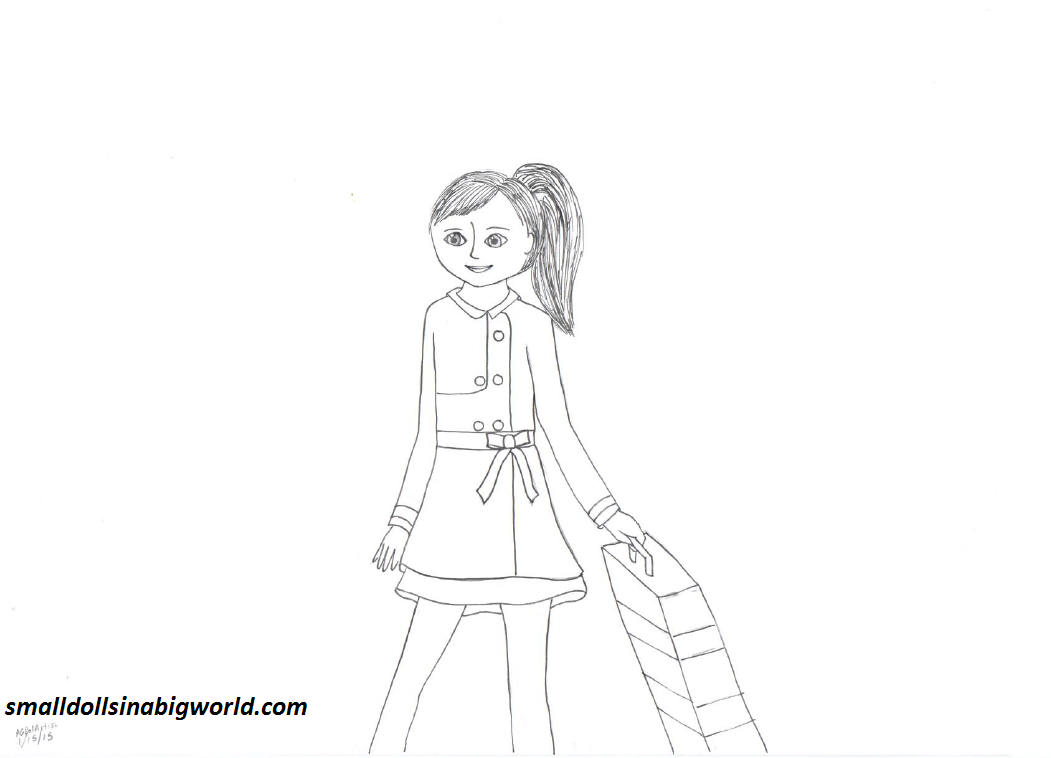 American girl grace coloring pages small dolls in a big for American girl doll coloring page