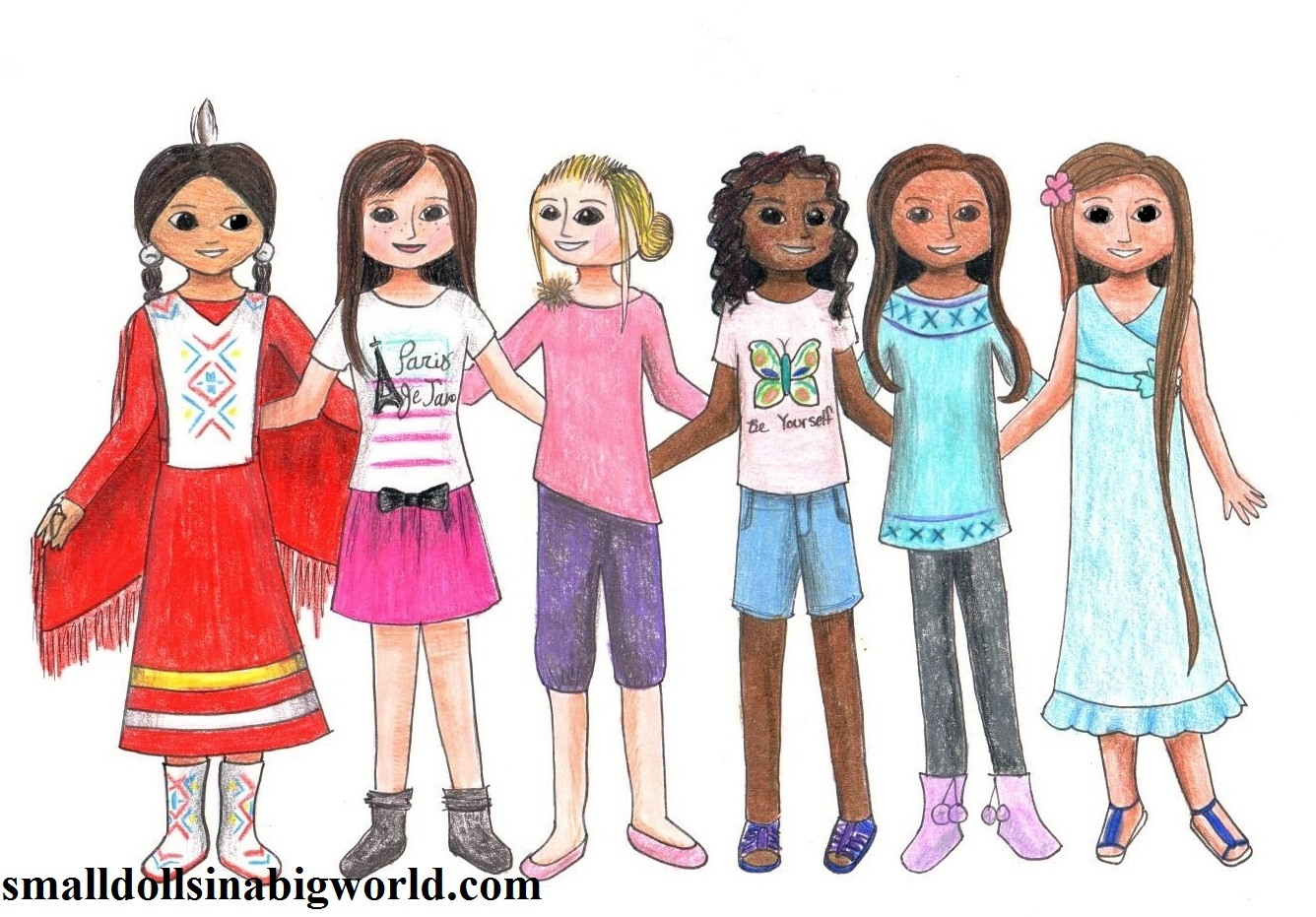 my new doll drawing - American Girl Coloring Pages Grace