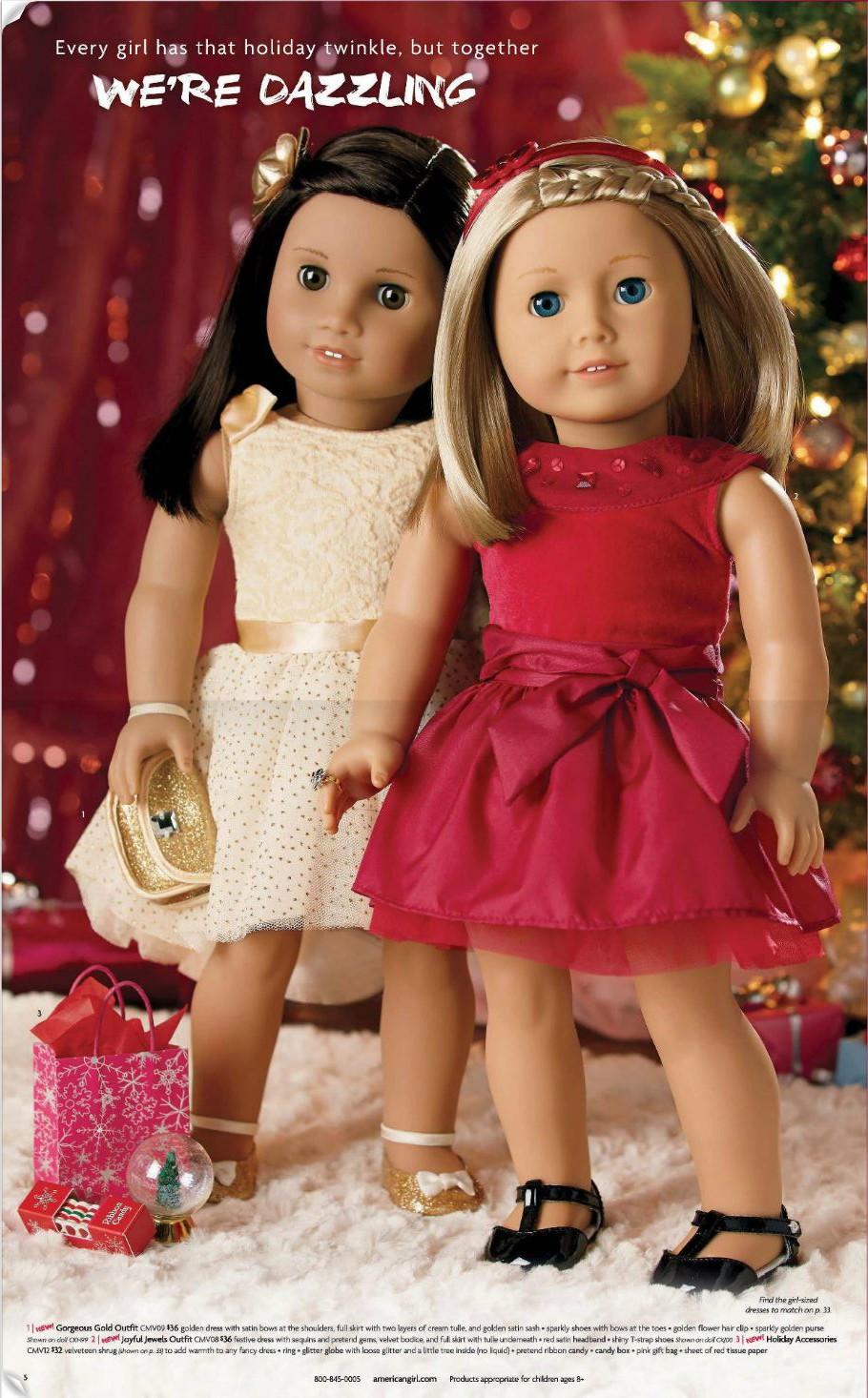 American Girl Holiday Catalog Photos 2015 Small Dolls