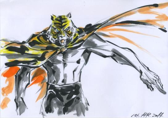 Junichi Hayama omaggia Tiger Mask