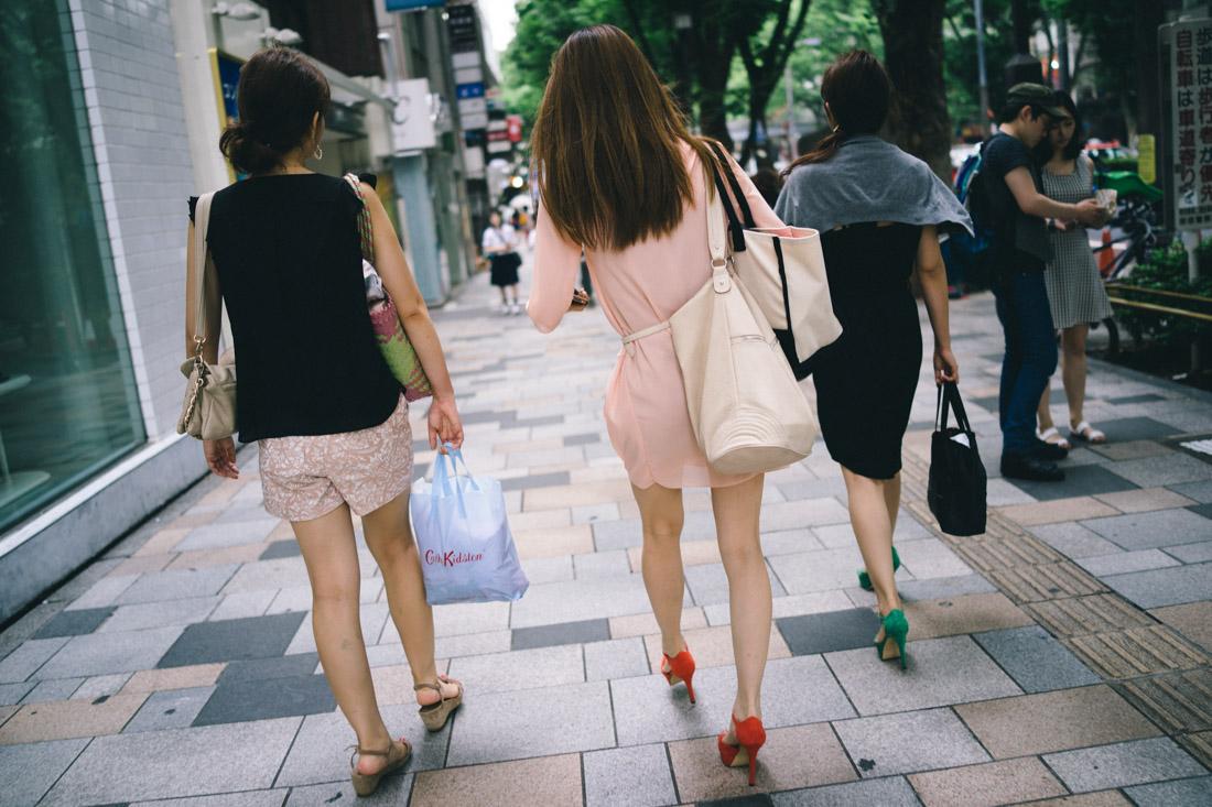Fashionable Harajuku girls.