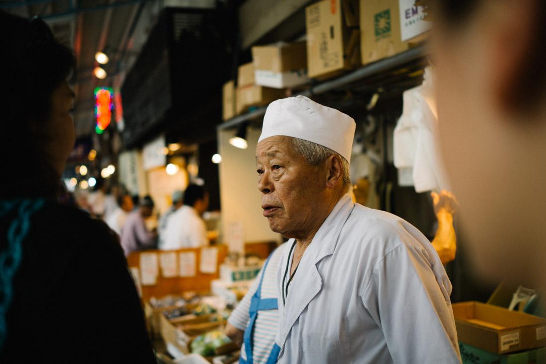 Ume-chan, owner of ramen shop Dai-ni Tsukiji Seimen-jo.