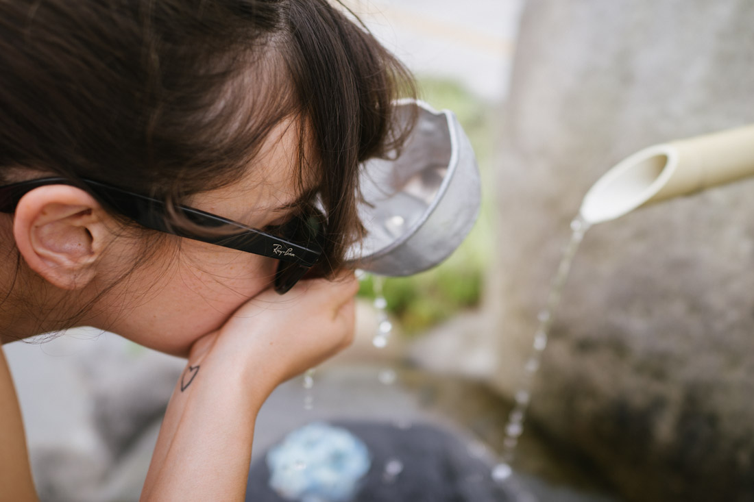 At the city entrance, in Nikko, there's a welcoming fountain where you can drink some fresh mountain water.