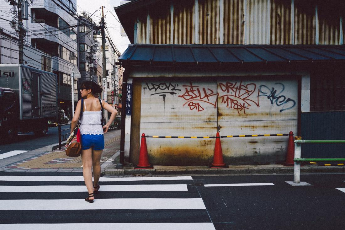 Walking from Ueno to Asakusa.