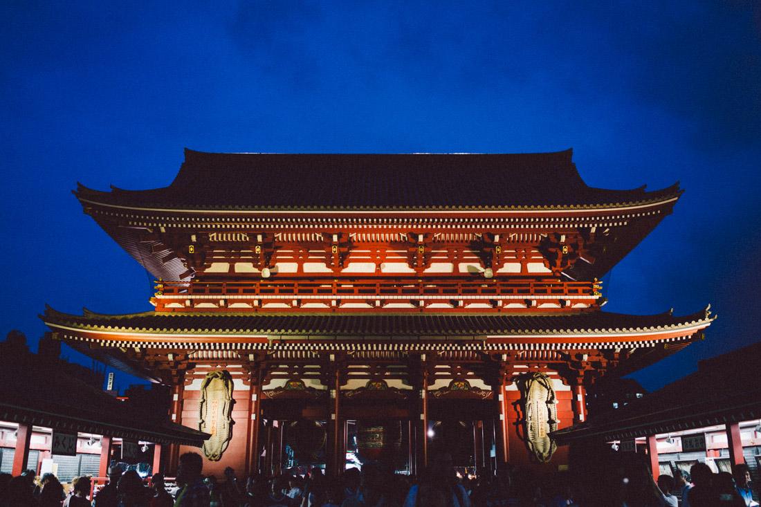 Senso-ji is even more beautiful at night.