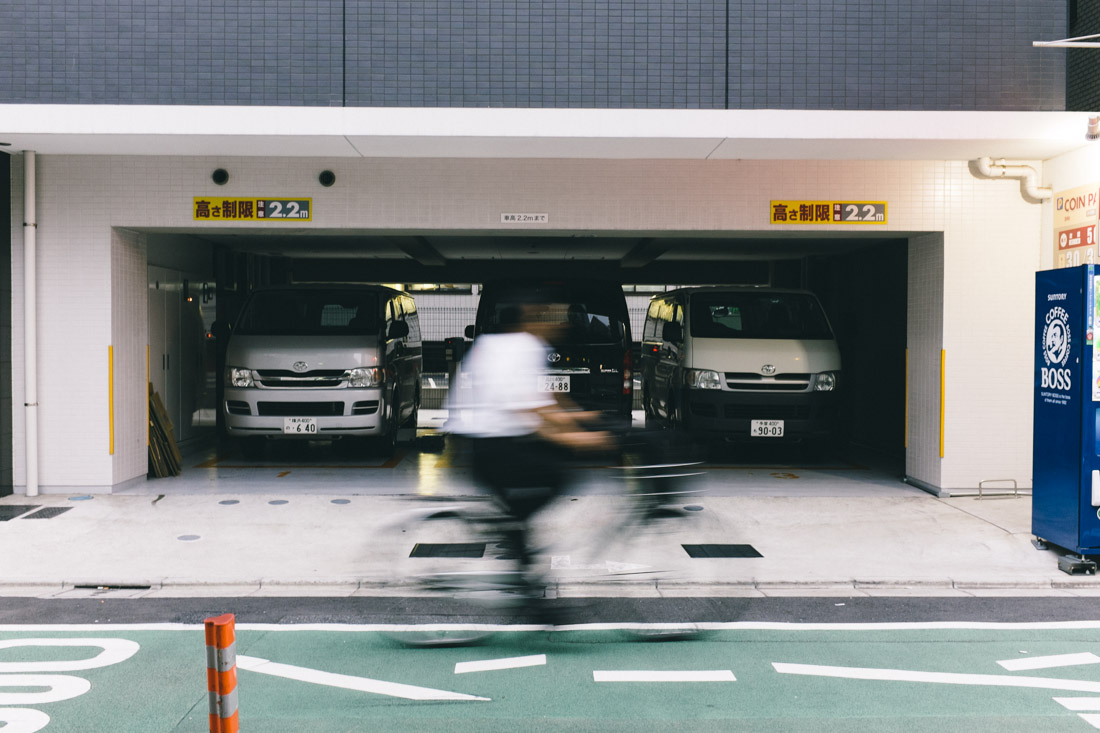 Small, short parking spaces — but then again, everything is in Tokyo