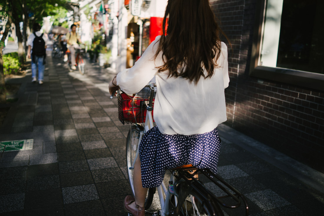 Commuting by bike is very popular in Japan, but specially in Kyoto.