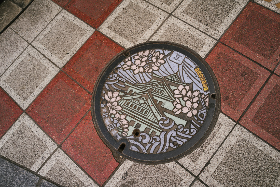 We found some of these very decorated manhole covers all over Japan.