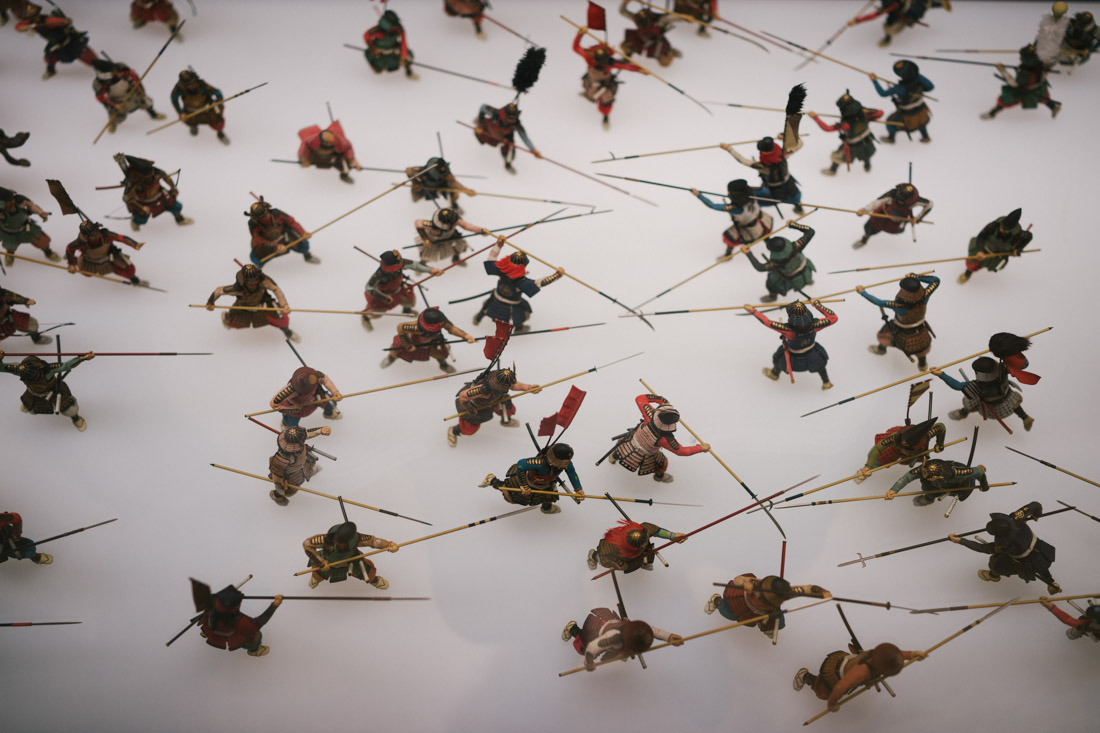 Representation of the war in the Battle of Sekigahara, one of the few things we could take pictures to.