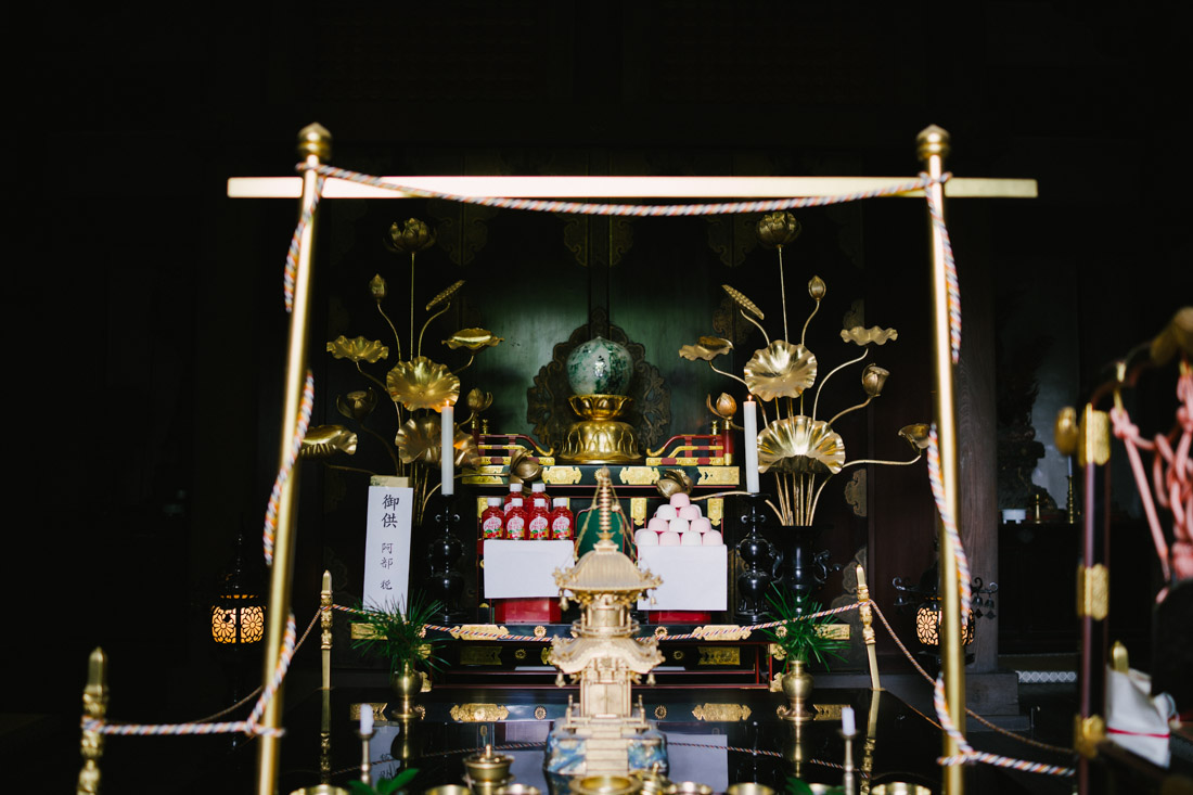 One of the very few altars we could photograph, complete with cherry soda and traditional sweets.