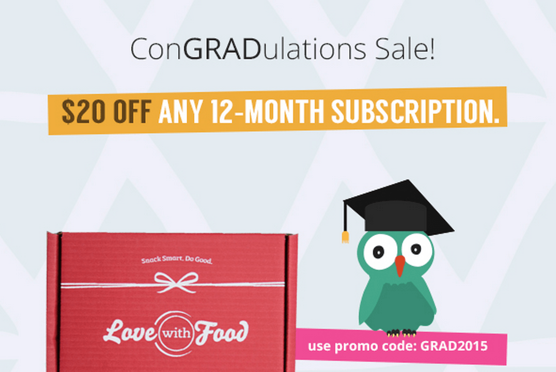 Love With Food Coupon - $20 Off an Annual Subscription