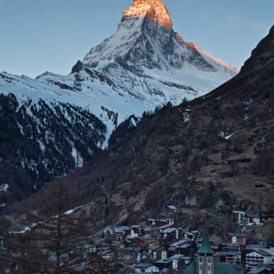 """The Matterhorn from Zermatt village  <a href=""""http://19onephotography.com/?p=99490"""">Buy Now</a>"""