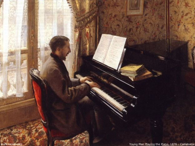 Gustave Caillebotte  - Young Man Playing the Piano, 1876,