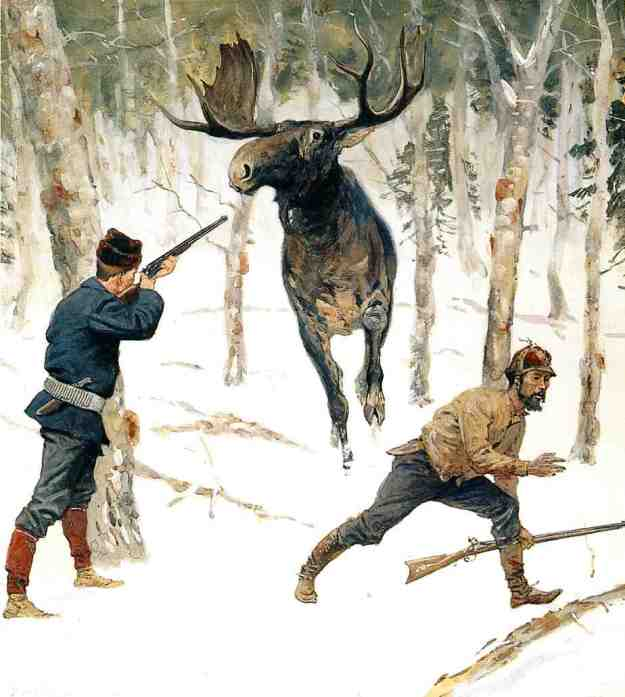FREDERIC-REMINGTON-THE-MOOSE-HUNT