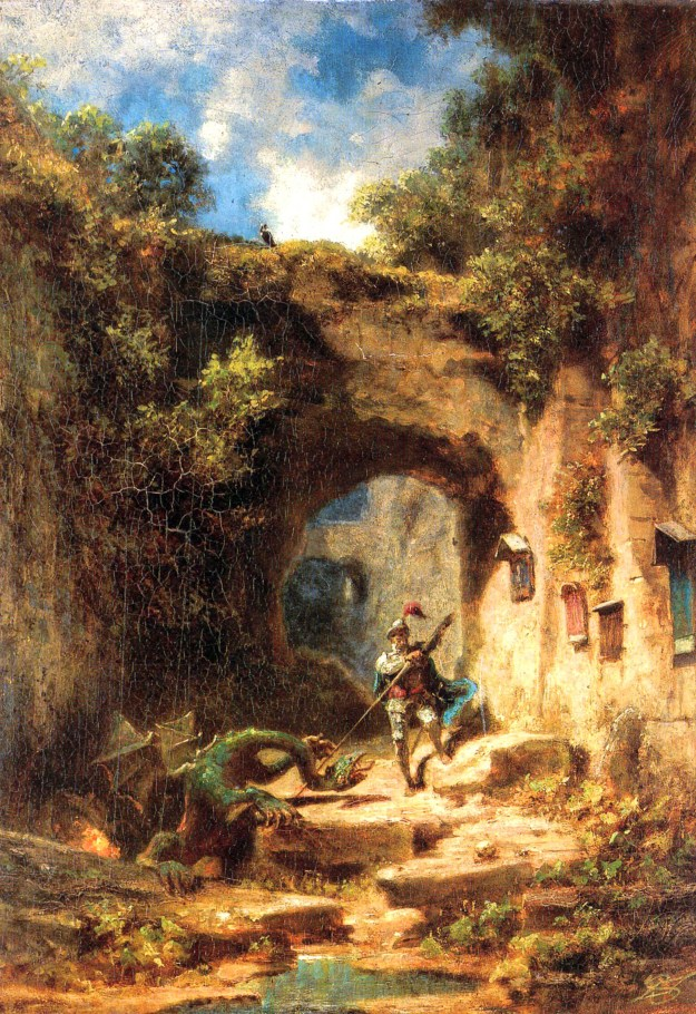 knight_and_dragon_spitzweg