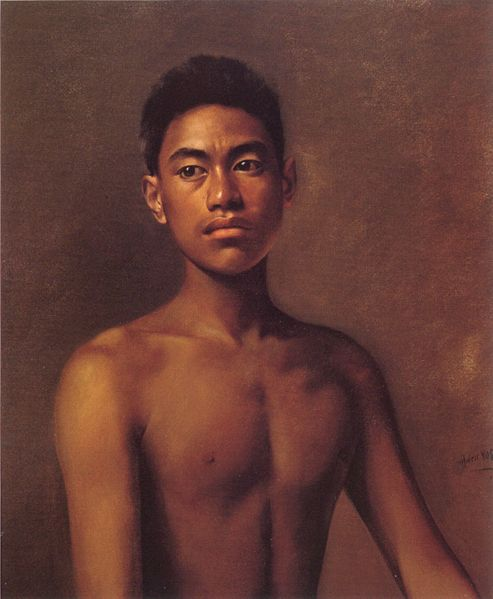 493px-'Iokepa,_Hawaiian_Fisher_Boy',_oil_on_canvas_painting_by_Hubert_Vos,_1898