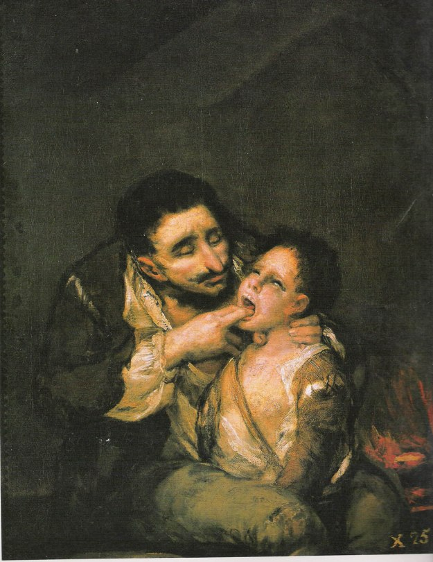 Difteria. Francisco Goya, 1812