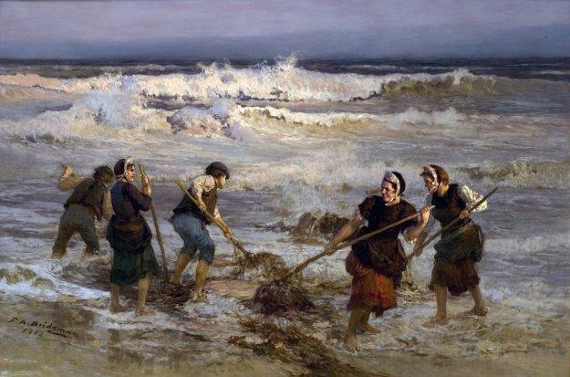 Seaweed Gatherers - Frederick A Bridgman