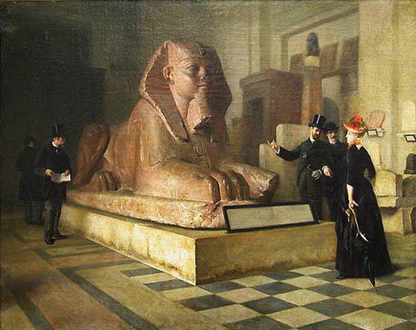 Guillaume Larue SAlle egyptienne et grand sphynx au Louvre