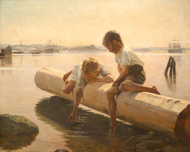 The Little Boat -  Albert Edelfelt 1884