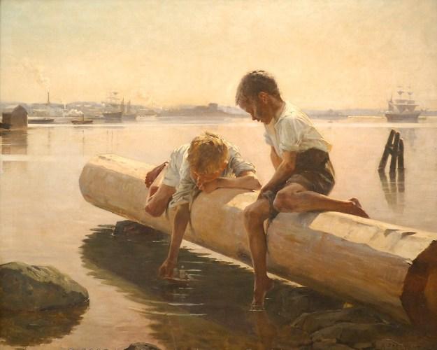 The Little Boat -  Albert Edelfelt 1884